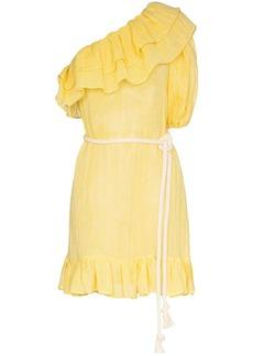 Lisa Marie Fernandez Arden ruffled one-shoulder mini dress