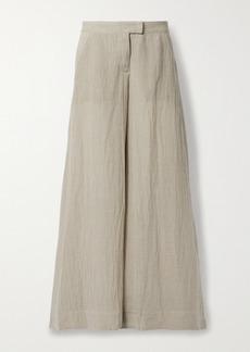 Lisa Marie Fernandez Net Sustain Organic Linen-blend Gauze Wide-leg Pants