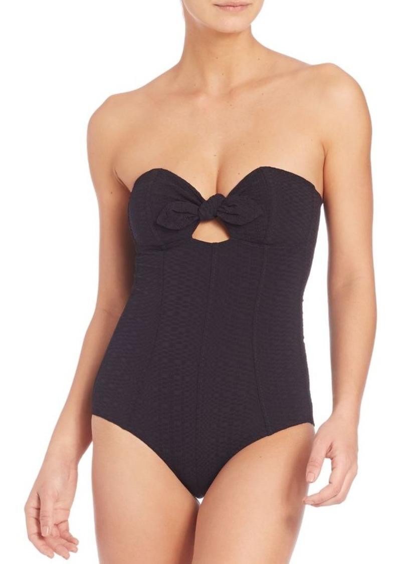 Lisa Marie Fernandez One-Piece Poppy Bandeau Swimsuit