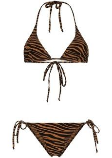 Lisa Marie Fernandez pamela zebra print bikini set
