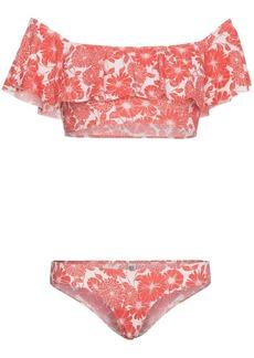 Lisa Marie Fernandez Red and White Leandra Floral Bikini