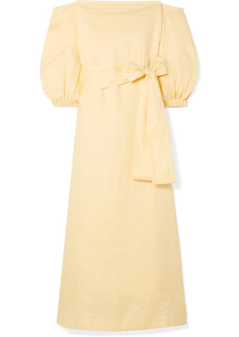 2bdcbcdf8a Lisa Marie Fernandez Rosie Off-the-shoulder Linen Maxi Dress
