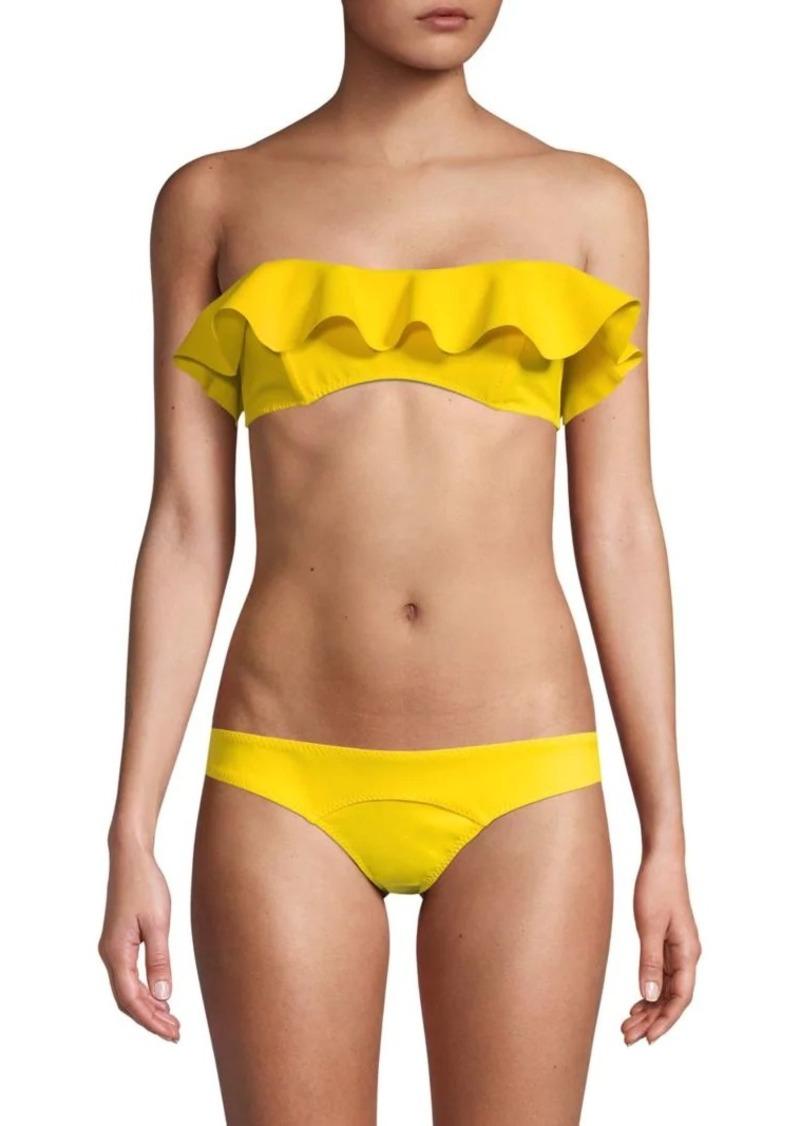 Lisa Marie Fernandez Ruffle-Trimmed Bikini Top