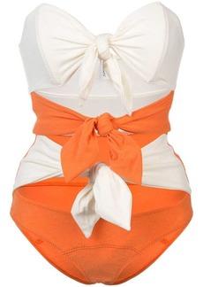 Lisa Marie Fernandez Triple Poppy knotted swimsuit