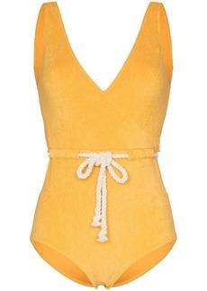 Lisa Marie Fernandez Yasmin belted swimsuit
