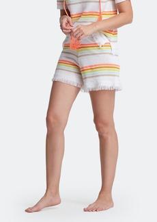 Lisa Todd Capri Linen Fringe Hem Shorts