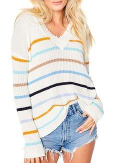 Lisa Todd Fine Line Striped Rib-Knit Pullover