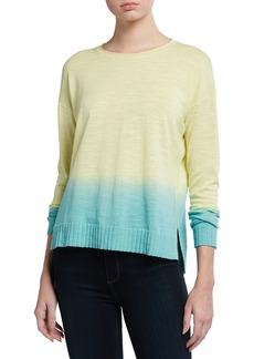 Lisa Todd Plus Size Dipped Ombre Cotton Sweater