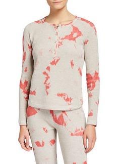 Lisa Todd Waffle-Knit Pop Henley Cotton Shirt