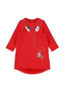 Little Marc Jacobs Baby Girl's & Little Girl's Fleece Headphone Graphic Dress