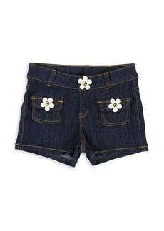 Little Marc Jacobs Little & Girl's Daisy Denim Shorts