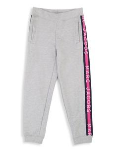 Little Marc Jacobs Little & Girl's Logo Cotton Sweatpants