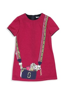 Little Marc Jacobs Little Girl's & Girl's Lurex Trompe L'Oeil Dress