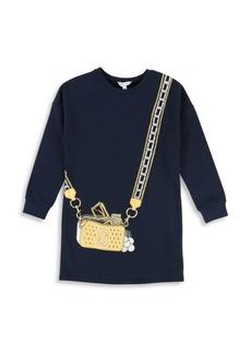 Little Marc Jacobs Little Girl's & Girl's Purse Graphic Sweater Dress