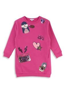 Little Marc Jacobs Little Girl's & Girl's Sequin Detail Sweater Dress