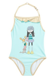 LITTLE MARC JACOBS Miss Marc One-Piece Swimsuit (Toddler Girls, Little Girls & Big Girls)