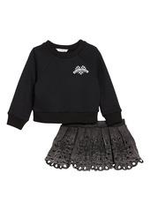 LITTLE MARC JACOBS Sweatshirt & Skirt Set (Toddler Girls, Little Girls & Big Girls)