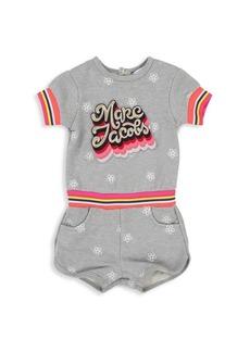 Little Marc Jacobs Baby Girl's & Little Girl's Terry Logo Cotton Shortall