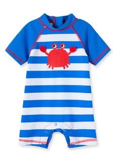 Infant Boy's Little Me Crab Rashguard Swimsuit