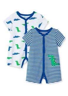 Infant Boy's Little Me Gator 2-Pack Rompers