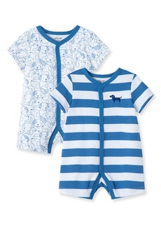 Infant Boy's Little Me Puppy 2-Pack Rompers