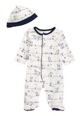 Infant Boy's Little Me Puppy Footie & Hat Set