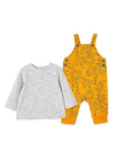 Infant Boy's Little Me Safari Cotton T-Shirt & Overalls Set