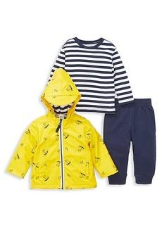 Little Me Little Boy's 3-Piece Jacket, Top & Pant Set
