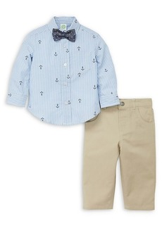 Little Me Little Boy's 3-Piece Nautical Shirt, Tie & Pant Set