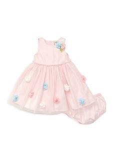 Little Me Little Girl's 2-Piece 3D Floral Dress & Bloomers Set