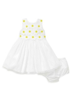 Little Me Little Girl's 2-Piece Daisy Lace Dress & Bloomers Set