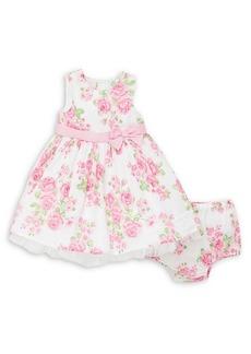 Little Me Little Girl's 2-Piece Rose-Print Dress & Bloomers Set
