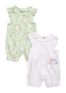 Little Me 2-Pack Bunny Flower Rompers (Baby)