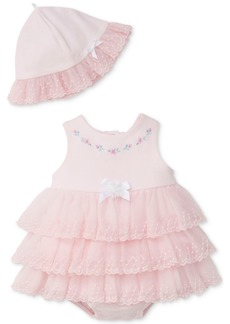 Little Me 2-Pc. Sweet Rose Popover Bodysuit & Hat, Baby Girls