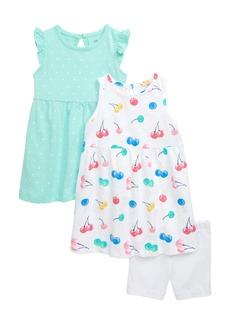 Little Me 3-Piece Dress & Shorts Set (Baby)
