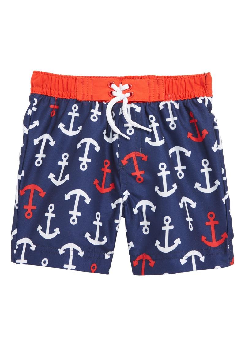 b616f4ec17 Little Me Little Me Anchor Swim Trunks (Baby Boys) Now $14.98