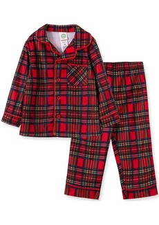 Little Me Baby Boy Plaid Coat Pj