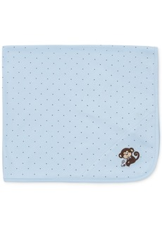 Little Me Baby Boys Monkey Blanket