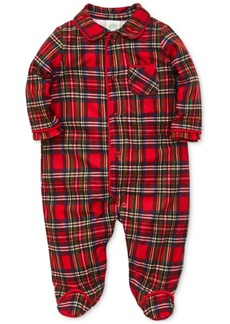 Little Me Baby Boys Plaid Footed Pajamas