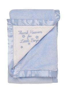 Little Me Baby Boys Thank Heaven Textured Blanket