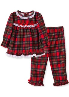 Little Me Baby Girl Girl Plaid 2 Piece Pajama