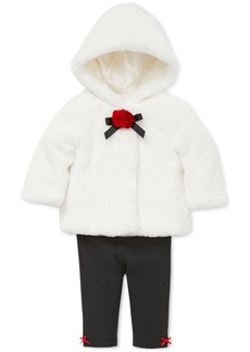 Little Me Baby Girls 3-Pc. Faux-Fur Jacket, Bodysuit & Leggings Set