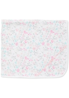 Little Me Baby Girls Floral Watercolor Cotton Blanket