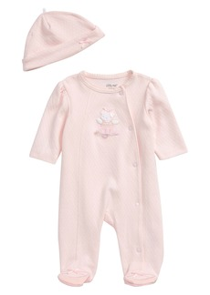 Little Me Ballet Bear Footie & Hat Set (Baby)
