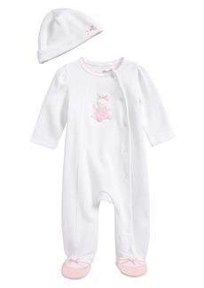 Little Me Ballet Bunny Footie & Beanie Set (Baby Girls)