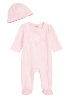 Little Me Ballet Bunny Footie & Beanie Set (Baby) (Nordstrom Exclusive)