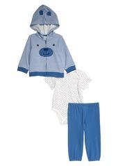 Little Me Bear Hoodie, Bodysuit & Pants Set (Baby)