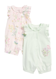 Little Me Botanical 2-Pack Rompers (Baby Girls)