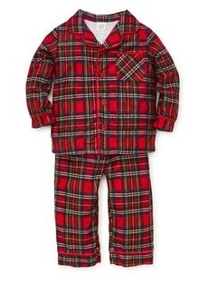 Little Me Boy's Two-Piece Tartan Plaid Pajama Top & Pants Set