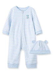 Little Me Buddy Romper & Hat Set (Baby)